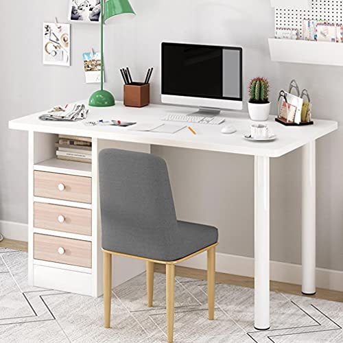 amidoa Computer Desk with Drawers - 39 inch Home Office Modern Desk with Storage Shelves, Kids Writing Desk Student Study Table for Home Office...