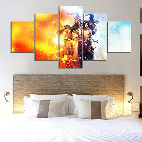 5 Stück Animation Kunst Wandbilder Für Wohnzimmer Dekor Naruto Und Sasuke Anime Poster Leinwand Kunst Cartoon Malerei,No Frame,30×40+30×60+30x80