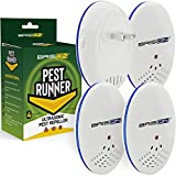 Pest Control Ultrasonic Repellent - Electronic Pest Control Repels Mice Rats Spiders Roaches Ants Snakes Rodents & Bats - Ultrasonic Pest Repeller Human & Quiet & with a Night Light [4 Pack]