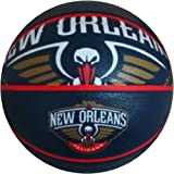 Spalding NBA New Orleans Pelicans Team Logo Basket Ball, 29.5', Blue