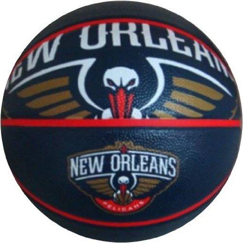 %25 OFF! Spalding NBA New Orleans Pelicans Team Logo Basket Ball, 29.5, Blue