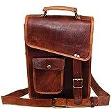 """13"""" Leather Messenger Bag Laptop case Office Briefcase Men Computer Distressed Shoulder Bag"""