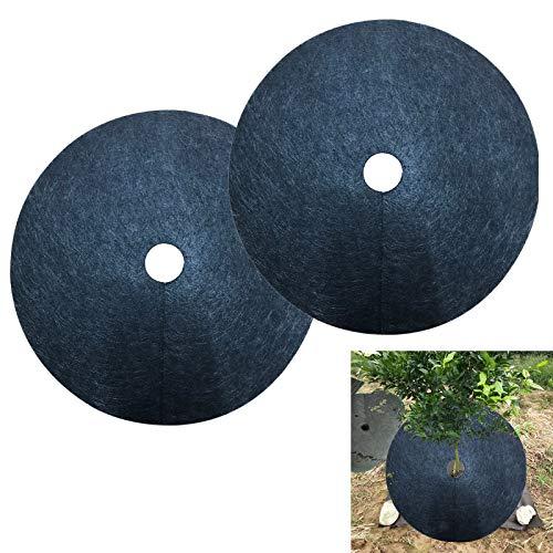 Takefuns 10 alfombrillas para malas hierbas no tejidas para evitar la hierba y las malas hierbas, para jardín, 52 x 52 x 0,3 cm, tela para deshierbar