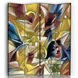 Legendarte - Biombo Jardín Tropical - Paul Klee - Separador de Ambientes cm. 145x180 (4 Paneles)
