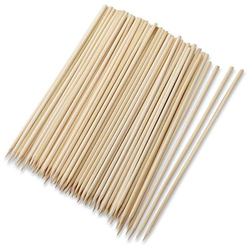 SRXING Bamboo Skewers,Kebab Sticks,Wooden Skewers,Skewer Sticks,Short Skewers,Wooden Kebab Skewers -Skewers for Fruit Kabobs,Shish Kabob, Grill, Appetizer, CornMore Food(6-Inch(100pcs))