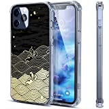 Coque transparente pour iPhone 12 Pro - Style japonais - Motif vague - Compatible avec 12 Pro -...