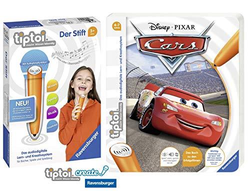 tiptoi Ravensburger Buch 4-7 Jahre | Disney Cars + Ravensburger 008018 Stift - neu mit Aufnahmefunktion