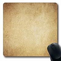 滑り止めマウスパッド耐久性のあるヴィンテージブラウンオールドベージュアンティーク羊皮紙焦げたさびた古代デザイン広い長方形形状滑り止めゲーム滑り止めマウスパッド耐久性のあるラバー長方形マット