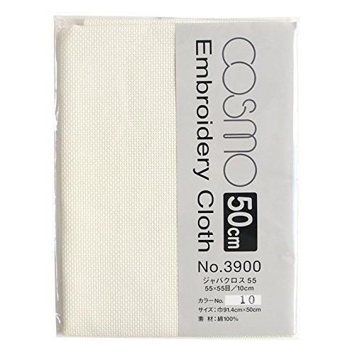 COSMO コスモ 刺しゅうクロス50cmカット #3900 CS3910-2 巾91.4×50cm 10 生成