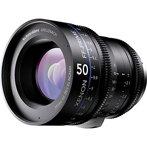 Schneider-Kreuznach 1078472 Cine Objektiv FF-Prime T2.1/50 mm, Nikon/ft schwarz