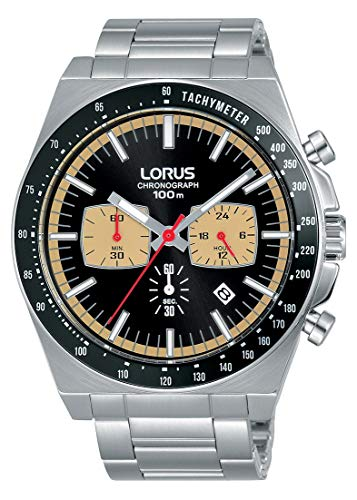 Lorus Sport Herren-Uhr Chronograph Edelstahl mit Metallband RT351GX9
