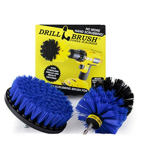 Cleaning Supplies - Marine - Boat Accessories - Drill Brush - Hull Cleaner - Boat - Inflatable - Jet Ski - Kayak - Canoe - Raft - Deck - Spin Brush - Algae - Pond Scum, Residue, Barnacles, Oxidation