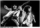 Rolling Stones Poster Ronnie Wood & Mick Jagger Earls Court