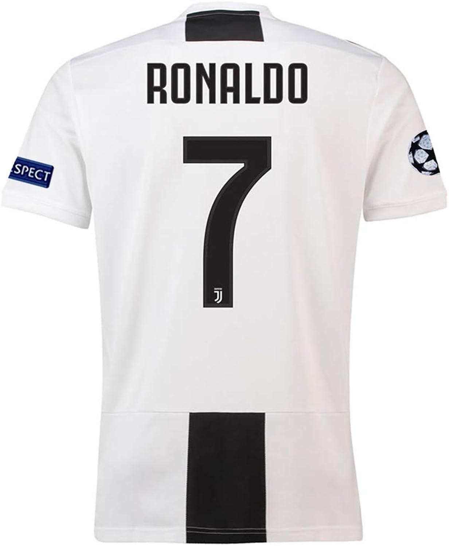 Ki goddess Juventus  7 Ronaldo New 2018 2019 Home Men's Soccer Jersey White Black