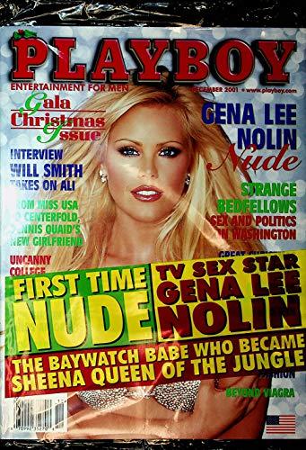 Playboy Magazine Gena Lee Nolin December 2001 Gala Christmas Issue