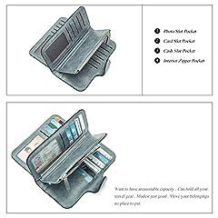 CLUCI Women Wallet Soft Leather Designer Trifold Multi Card Organizer Lady Clutch #3
