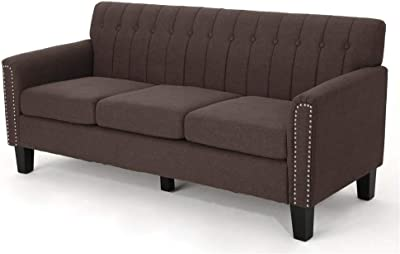 Amazon.com: Rivet Aiden Tufted Mid-Century Modern Leather ...