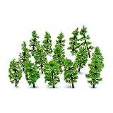 VORCOOL Maßstab Bäume Diorama Modelle Modell Zug Landschaft Architektur Bäume Modell Eisenbahn Landschaft 100pcs 1: 160 - 1: 220 (grün) -