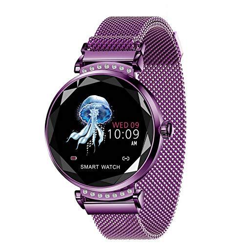 HX0945 BM88 Frauen Smart Watch Herzfrequenzüberwachung Sport Smart-Armband-Uhr-IP68 Wasserdicht Schwimmen Inteligente,Lila