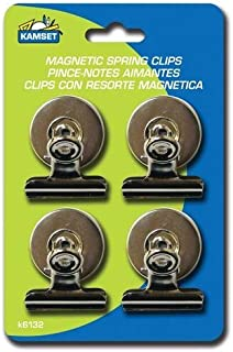 4 PC METAL Strong Magnetic Spring Clips Clamp Set