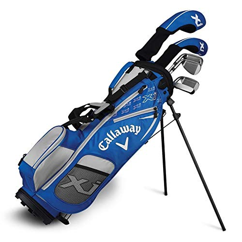 Callaway Golf Xj Junior Golf Set, Level 2, 6 Piece Set, Right Hand, Blue