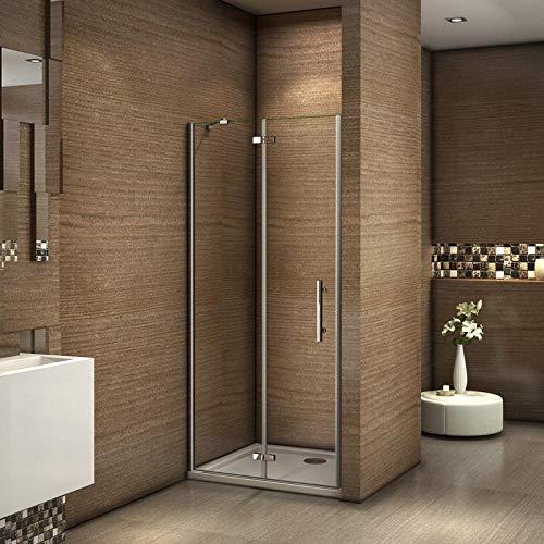 100x185cm Mamparas ducha pantalla de baño 6mm Easyclean vidrio templado de Aica