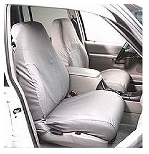 Covercraft Custom-Fit Rear-Second Seat Bench SeatSaver Seat Covers Grey Polycotton Fabric