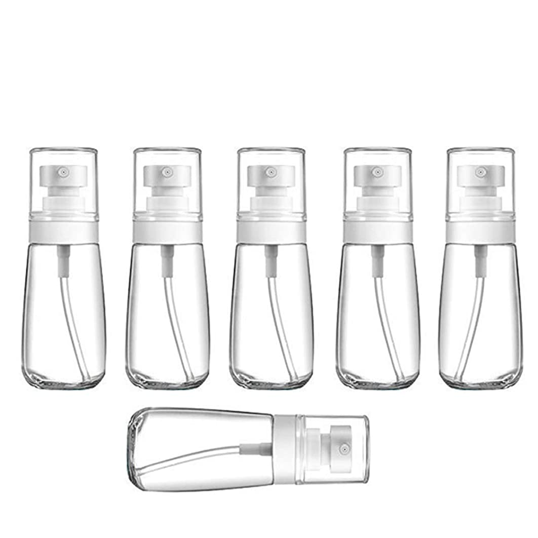 リダクター実業家時代遅れYXC 良質の PETG小分けボトル トラベルボトル スプレーボトル 家に清潔消毒 緑の植物に水遣る 6本セット 日本小スプレーボトル 化粧水 詰替用ボトル 旅行用品 (60ML6本)