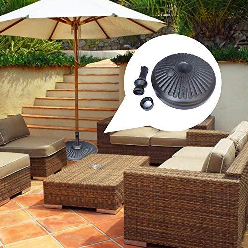 Dongbin ParasolRond Supporto di Base, la Forma plastica Supporto dell'ombrello Rotonda, Ombrello Support Base Borsa Peso Riempito con Acqua per Esterno, Patio, Cortile, Ombrello