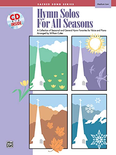 Hymn Solos for All Seasons: Medium Low Voice, Book & CD