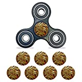 MightySkins Vinyl Decal Skin Compatible with Fidget Spinner Center Cap – Mosaic Gold | Protective Sticker Wrap for Your Fidget Toy Bearing Cap | Easy to Apply Cover