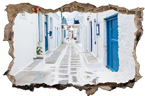 Griechenland Insel Santorin Häuser Wandtattoo Wandsticker Wandaufkleber D1367 Größe 60 cm x 90 cm