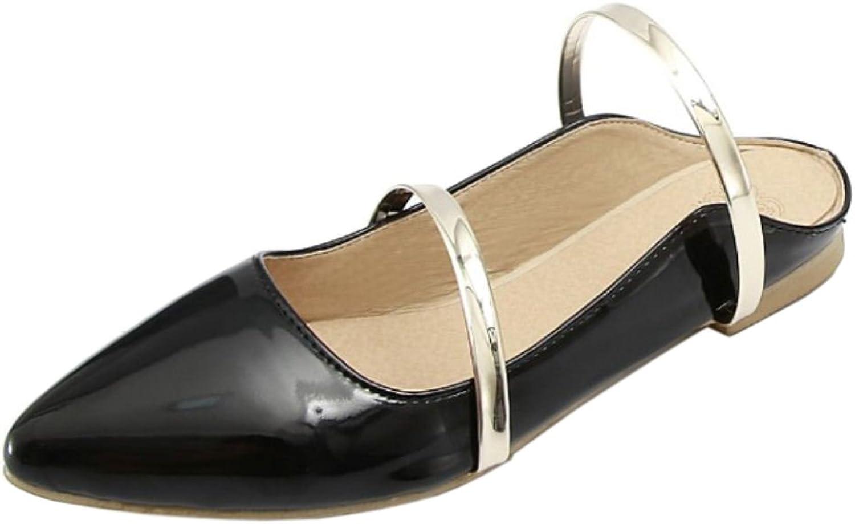 TAOFFEN Women Slip On Sandals Open Back