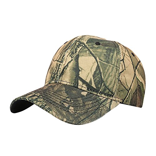 Elaco Women Men Casual Outdoor Camouflage Sports Cap Baseball Cap Hat (Beige)