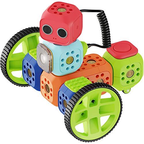 Robo Wunderkind Roboter für Kinder ab 5 Jahre – preisgekröntes Robotik-Kit zum Lernen von Programmieren für Kindern ab 5 Jahren – Lego kompatibles Robotik Kit mit 3 gratis Apps