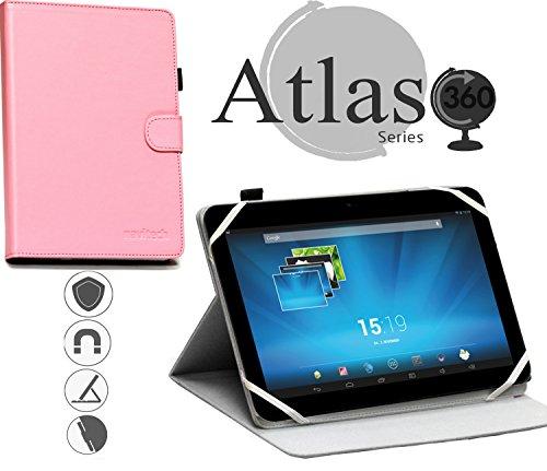 Navitech 10 Zoll stilvolles rotierbares 10 Zoll Stand Case Cover Hülle in Pink mit Stylus Pen für das Archos 101 Magnus/Archos 101 Magnus Plus