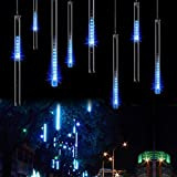OMGAI Waterproof Meteor Shower Rain Lights 30cm 8 Tubes Drop Icicle Snow Falling...