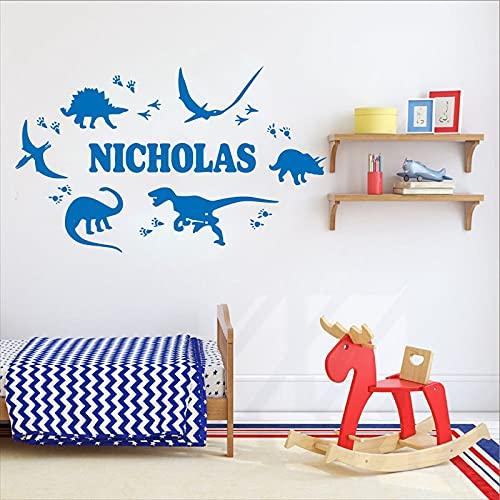 Nombre personalizado vinilo grabado pegatina extraíble pared arte papel pintado de moda decoración del hogar pegatina A6 55x93cm