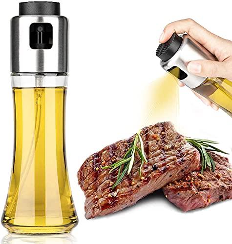 Hotder Pulverizador de aceite grande, dispensador de aceite o vinagre, rociador de aceite, oil spray