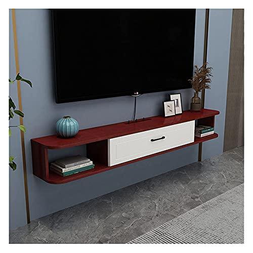 DRAGDS Gabinete Montado en la Pared Del Soporte de Tv, Moderna Consola de Medios Utilizados para Dormitorio, Sala de Estar Y Decoración de Oficina de Alenamiento/C / W100 × H20.4Cm,B,W160 × H20.4Cm