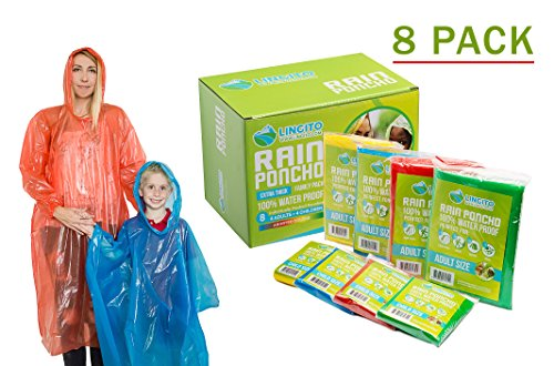 Top disposable rain poncho with hood kids for 2021