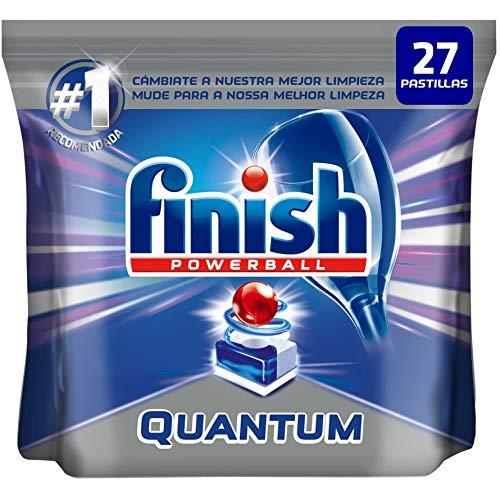Finish Powerball Quantum Max - Pastillas para el lavavajillas - formato 27 unidades