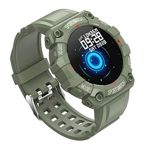 signmeili Reloj inteligente Fitness Tracker IP67 impermeable de 1.3 pulgadas con pantalla táctil recordatorio de mensajes, material de silicona (5 estilos de color)