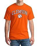 Elite Fan Shop Clemson Tigers Tshirt Varsity Orange Arch Over - X-Large