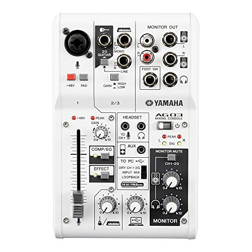 Yamaha - AG03 - Interface Audio et Mixeur combiné - USB 2.0