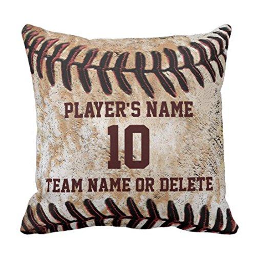 Fundas Cojín Almohada Microfibra 45x45cm Night Personalized Senior Baseball Player Ideas PY Decorativa con Cremallera Invisible Funda Cojín