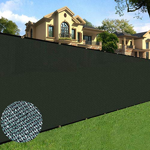 Sunnyglade 6 feet x 50 feet Privacy Screen Fence Heavy Duty Fencing Mesh Shade Net Cover for Wall Garden Yard Backyard (6 ft X 50 ft, Green)