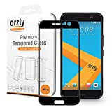 Orzly - 2.5D Pro-Fit Tempered Glass Screen Protector for HTC 10 (2016 Model) - Full Cover Screen Guard - Black