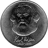 20 Mark Gedenkmünze Karl Marx, DDR 1983 A (Jäger: 1592) Stempelglanz, Kupfernickelzink