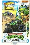 DieCast Hotwheels Monster Trucks Teenage Mutant Ninja Turtles [Leonardo] 1/5
